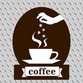 Coffee art design template card — Stock Vector