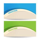 Gift certificate voucher — Stock Vector