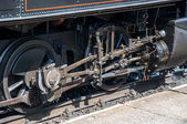 Drive gear of old steam locomotive — Stock Photo