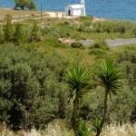 Small white church on the Aegean coast — Stock Photo #63750753