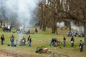 Festung Josefov, Vorführung einer Schlacht im 19. Jahrhundert — Stockfoto
