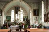 The interior of the church in Eibenthal — Стоковое фото