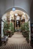 Interior de St. Iglesia de Juan Bautista en Námest nad Oslavou — Foto de Stock