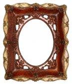 Antikes Bild Rahmen handgemachte Keramik isoliert auf weißem Hintergrund — Stockfoto