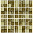 Tile mosaic square decorated with glitter golden texture background — Stock Photo #58232277