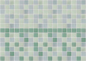 Mosaic marble tiles green square — Photo