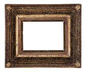 Antique old picture frame wooden ceramics isolated on white — Stock Photo
