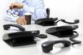 Coffee break in the office, phones off — Stock Photo