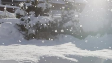 Snowing background — Stock Video