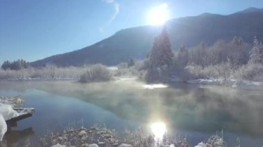 Das maravilhas do inverno — Vídeo stock