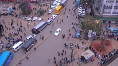 Crowded streets of Nairobi — Stockvideo