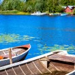 Two old fishing wooden rowboats — Stock Photo #55152523