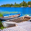 Two old fishing wooden rowboats — Stock Photo #55152495