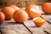 Uova fresche di fattoria — Foto Stock