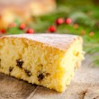 Christmas piece of biscuit cake  — Stock Photo #59536861