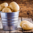 Fresh organic raw potatoes in a bucket — Stock Photo #70067101