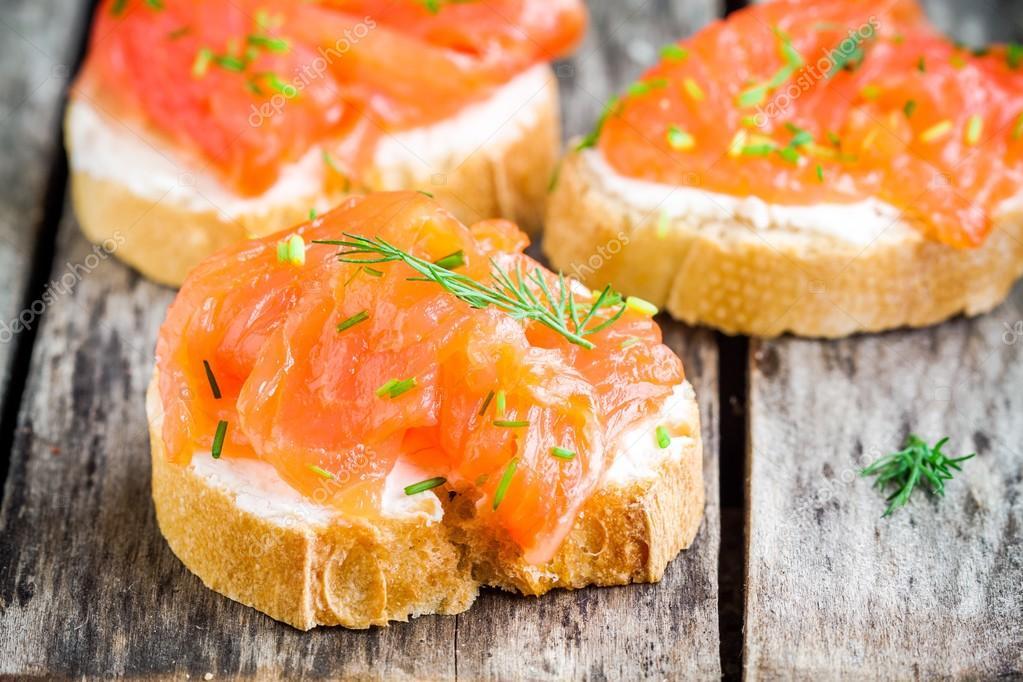 Рыбные бутерброды рецепты с фото