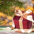 Christmas present with decoration — Stock Photo #58795005