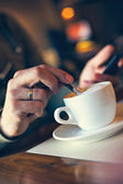 Coffee Time In Cafe — Stock Photo