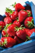 Strawberries On White Board — Stock Photo