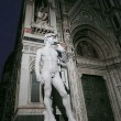 A copy of the statue of David by Michelangelo in front of the Duomo in Florence, Italy — Stock Photo #51955899