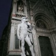 A copy of the statue of David by Michelangelo in front of the Duomo in Florence, Italy — Stock Photo #51955903