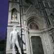 A copy of the statue of David by Michelangelo in front of the Duomo in Florence, Italy — Stock Photo #51955909