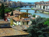 Widok z Florencji z wieży san niccolo, Włochy — Zdjęcie stockowe