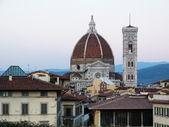 Veduta aerea della cupola del duomo, firenze, italia — Foto Stock