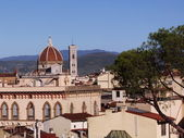 View from the roof of the Dome of the Cathedral, Florence, Italy — Stock Photo