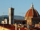 View from the roof of the Dome of the Cathedral, Florence, Italy — Stok fotoğraf