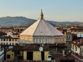 View of the baptisteryl of Florence from a terrace, Italy — Stok fotoğraf