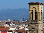 View of Florence from the rooftops, Italy — Stock Photo