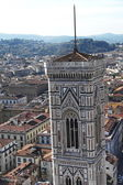View from the terraces of the Giotto s bell tower of the Cathedral, Florence, Italy — Stock Photo