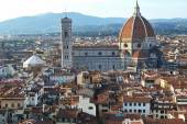 Aerial view of the cente of Florence, Italy — ストック写真
