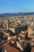 Aerial view of the center of Florence, Italy — Stock Photo