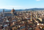 Aerial view of the center of Florence, Italy — Stockfoto