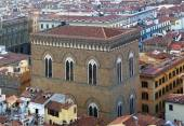 Aerial view of the Oranmichele church in Florence, Italy — Fotografia Stock