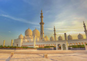 Sheikh zayed mosque, abu dhabi, uae, middle east — Stock Photo