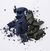Blue and green colour eye shadow — Stock Photo