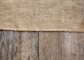 Мешковины и деревянные текстуры фона — Стоковое фото