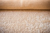 Rice on sackcloth use for background — Stock Photo