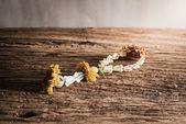 Still life of Dried flower garland in thai style — Zdjęcie stockowe