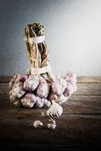 Group of Organic garlic — Stock Photo