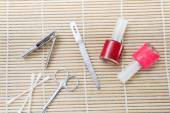 Pedicure set on the table — Stock Photo