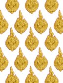 Thailand striped stucco low relief — Stock Photo