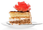 Cake on plate — Стоковое фото