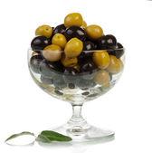 оливки в стекле — Стоковое фото
