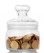Money in jar — Stock Photo