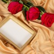 Photoframe with roses — Stock Photo #53157913